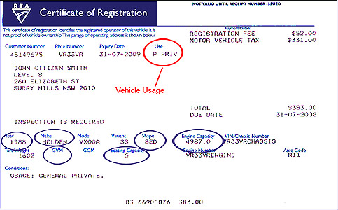 Policy Number Car Ctp Registration Nsw